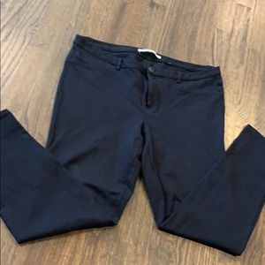 Womens Lauren Conrad skinny black pants sz XL